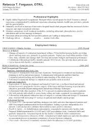 occupational therapy resume samples   my hnseqpy elanbvi    filling how to create a resume filling ot resume sample