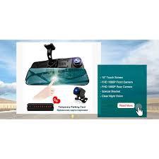 <b>HGDO</b> 10 inch Touch screen Car DVR Rear View Mirror <b>Dash cam</b> ...