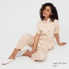 <b>Women</b> Joy of Print <b>Satin Long Pyjamas</b>   UNIQLO