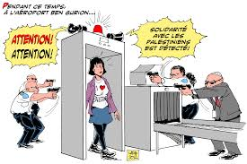 Image result for ISRAELI AIR PORT CARTOON