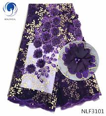 <b>BEAUTIFICAL purple</b> african <b>lace</b> fabrics for dress New arrival ...