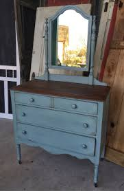 vintage chest of drawers with mirror painted with annie sloan chalk paint duck egg and antique furniture apothecary general