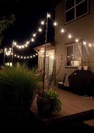 bright july diy outdoor string lights backyard string lighting ideas