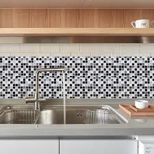3D <b>Mosaic Wall Sticker Self</b>-<b>adhesive Tile</b> Sticker <b>Kitchen</b> Bathroom ...