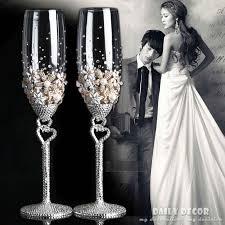 High quality <b>Lead free crystal glass</b> rhinestone bride and groom ...