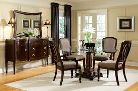 dark brown wenge furniture graceful rectangular clear glass top leather designer pcs table and ch