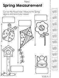 Kindergarten math worksheets, Math worksheets and Kindergarten ...Spring Measurement >> Part of the Spring Kindergarten Math Worksheets >> Common ...