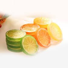Lemon And Lime Kitchen Decor 2pcs Artificial Lemon Slice Plastic Garnish Fruit Faux Food House