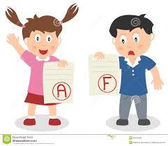 good grade cartoon girl stock vector image 70304633 good and bad grade kids royalty stock photos