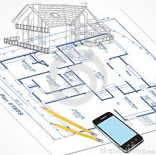 House Plans Sketch Stock Vector   Image  House Plans Sketch