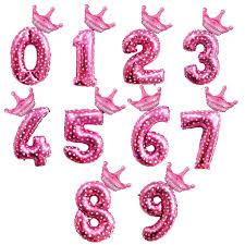<b>QIFU</b> 32 inch Gold Number <b>Balloons Happy Birthday Balloon</b> Crown ...