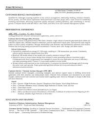 resume for manager customer service experience resume example resume resume sample for customer resume examples middot customer service manager