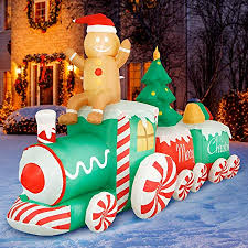 Gemmy <b>Airblown Inflatable Gingerbread Man</b> Christmas Decoration ...