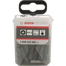 <b>Набор бит BOSCH</b> PH2 x 25 мм <b>25 шт</b> купить по цене 749.0 руб. в ...