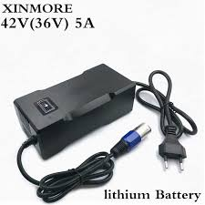 <b>XINMORE</b> AC DC <b>42V</b> 8A 7A 6A Lithium Battery <b>Charger</b> For 36V E ...