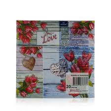 """Бумажные <b>салфетки</b> Bouquet """" Коллаж из Тюльпанов """" 3х ..."""