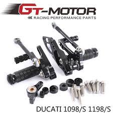GT Motor <b>Full CNC</b> Aluminum <b>Motorcycle Adjustable</b> Rearsets Rear ...