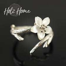 fashion branch cherry blossom ring