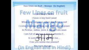 few lines on fruit mango in english in hindi few lines on fruit mango 23102350 in english in hindi