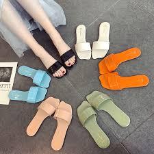 Crystal jelly <b>slippers women</b> wear <b>2019</b> new <b>summer</b> patent leather ...