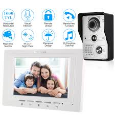 OWSOO <b>7 inch TFT LCD Wired</b> Visual Video Intercom Video Door ...