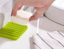 Generic Cute <b>Silicone Soap Dish</b> Bathroom Toilet <b>Plate</b>: Amazon.in ...