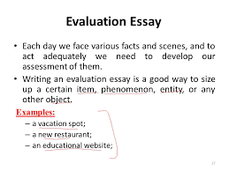essay writing lecture  recap what is a paragraph paragraph   an educational website  evaluation essay each day we face various facts and scenes and to act adequately we need to