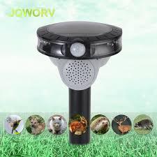 JQWORV Outdoor <b>Solar Ultrasonic Pest repeller</b> LED light Rodent ...