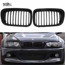 1 <b>Pair Front</b> M color <b>Kidney</b> Grille Grill For E46 4D 3 Series 2002 ...