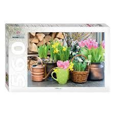 <b>Пазл STEP PUZZLE</b> Весенние цветы, 560 элементов — купить в ...