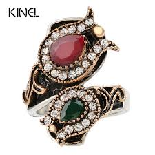 From <b>India Vintage</b> Wedding Rings For Women Color <b>Antique Gold</b> ...