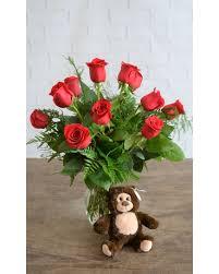 One Dozen Classic <b>Red Roses</b> & Small <b>Bear</b> in Alpharetta GA ...