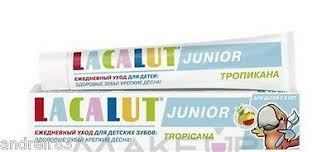 <b>LACALUT</b> Medical Toothpaste <b>Junior</b> for kids <b>TROPICANA</b> Germany ...