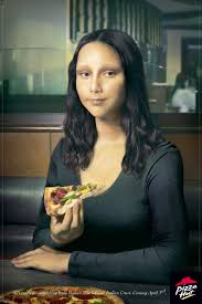 artpulse magazine features mona lisa to marge how the world s pizza hut s get ready for something truly italian ad courtesy of ogilvy