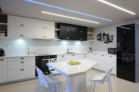 apartment kitchen design:  kitchen design in modern apartment with dining table and chairs