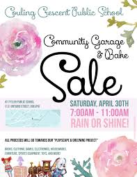 community garage bake eacute cole guelph lake public school spring garage and bake poster