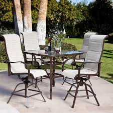 bar height patio chair: height patio table and chairs with white cushion in the bar patio chairs and rectangle