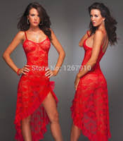 Long <b>Sexy Lace</b> Lingerie Robes