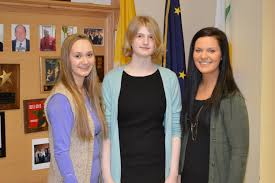lumenous news lumen christi high school grace bernert first place tori kruger second place and katherine brown third place won the koc scholarship essay contest and were awarded 1000