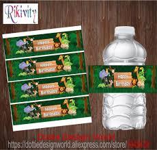 <b>20Pcs</b> Custom Jungle Safari Animal Forest Birthday Party Water ...