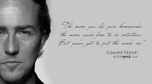 WALLPAPER: Edward Norton quote on acting with photo | ActorSpeak.com via Relatably.com