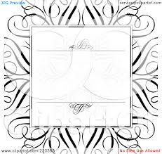 royalty rf clipart illustration of a formal invitation royalty rf clipart illustration of a formal invitation design of a swirl box over a large black swirl on white by bestvector