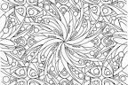 Раскраски очень сложные и красивые цветы