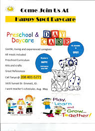 happy spot daycare emmett id home daycare information for happy spot daycare a family daycare home in emmett id