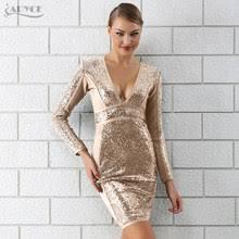 Shop <b>Sexy</b> Dress with <b>Sequins</b> for <b>Women</b> 2019 <b>V Neck</b> - Great ...
