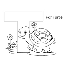 Small Picture Letter T Coloring Pages Free Printables MomJunction