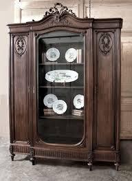 antique french louis xvi walnut display armoire antique armoires inessa stewarts antiques antique english country armoire circa 1830s