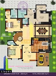 sq ft  bedroom bungalow floor plan and D View   House    Ground floor plan