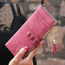 <b>Women Wallets Matte PU</b> Leather Lady Handbags Hasp Tassel ...