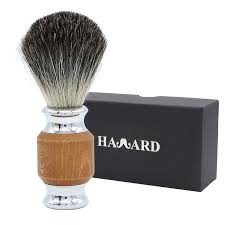 qshave man pure badger hair shaving brush wood 100 for razor it double edge safety straight classic 9 9cm x 4 6cm
